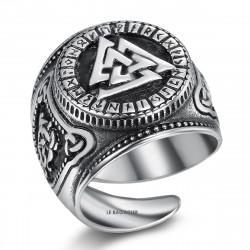 BA0282 BOBIJOO Jewelry Anello anello con Castone Valknut Guerrieri Nodo di Abbattimento
