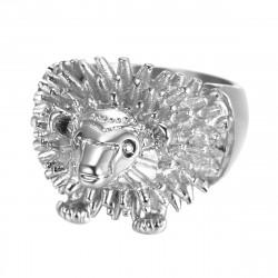 BA0356 BOBIJOO Jewelry Anello Anello Testa di Uomo, Riccio Niglo Viaggiatore