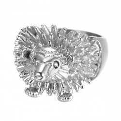 BA0356 BOBIJOO Jewelry Ring Signet Ring Man's Head, Hedgehog Niglo Traveller