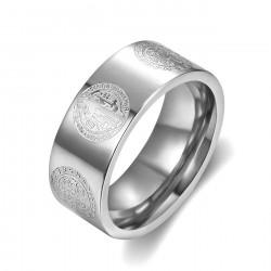 BA0358 BOBIJOO Jewelry Anillo Anillo de la Alianza San Benito de Protección de 8mm