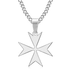 PE0251 BOBIJOO Jewelry Pendant Cross of Malta St JeanTemplier Biker