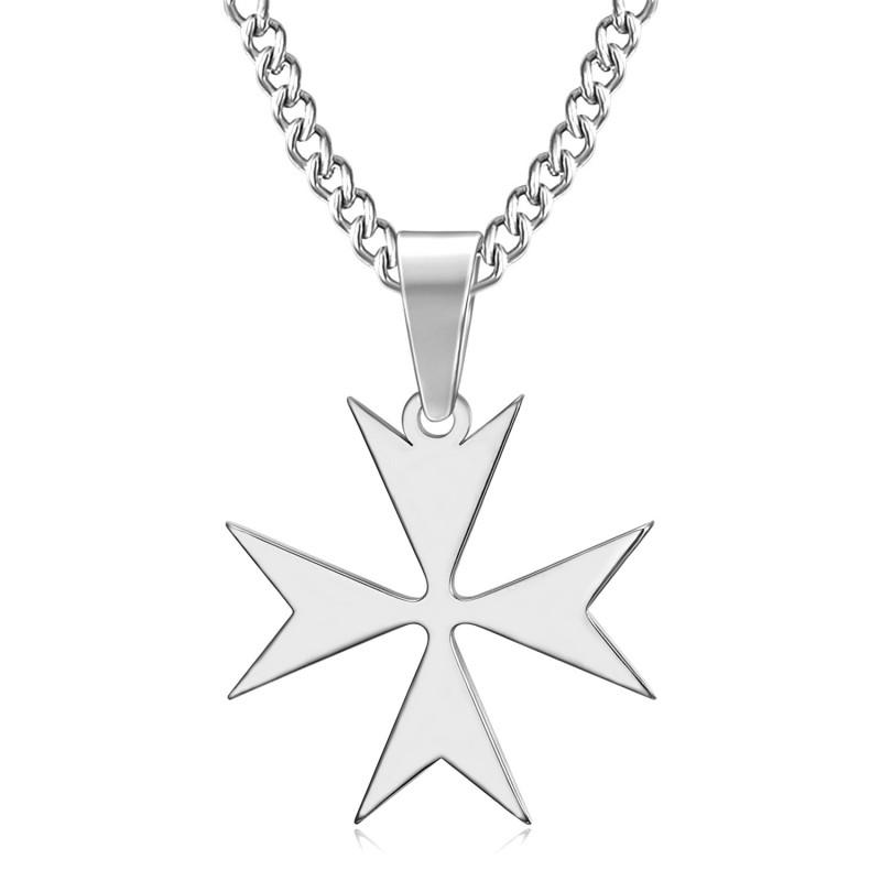 PE0251 BOBIJOO Jewelry Pendant Cross of Malta St JeanTemplier Biker