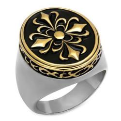 BA0082 BOBIJOO Jewelry Ring Siegelring Fleur de Lys Templer