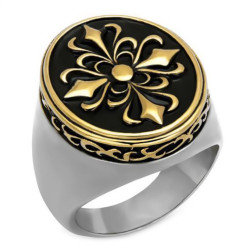 BA0082 BOBIJOO Jewelry Ring Signet ring Fleur de Lys Templar