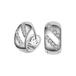 Ohrringe, 6 Modelle zur Auswahl Silber-Zirkonium