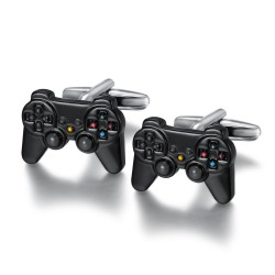 BM0024 BOBIJOO Jewelry Cufflinks Black Vintage Video Game Controller