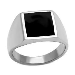 Ring Mit Cabochon-Onyx Quadrat