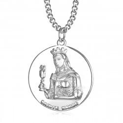 PE0253 BOBIJOO Jewelry Colgante de Bombero de San bárbara, Bárbara, Protectora de Acero