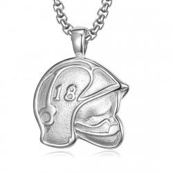 PE0255 BOBIJOO Jewelry Pendant Helmet Fireman France 18 Steel