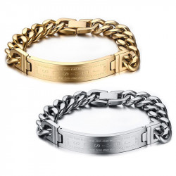 GO0001 BOBIJOO Jewelry Curb Catena Bracciale Uomo La Croce Di Gesù