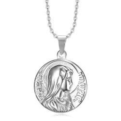 PE0266 BOBIJOO Jewelry Colgante Milagrosa de maría Inmaculada Concepción de Plata