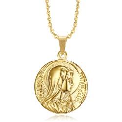 PE0265 BOBIJOO Gioielli Ciondolo Miracolosa dell'Immacolata Concezione d'Oro