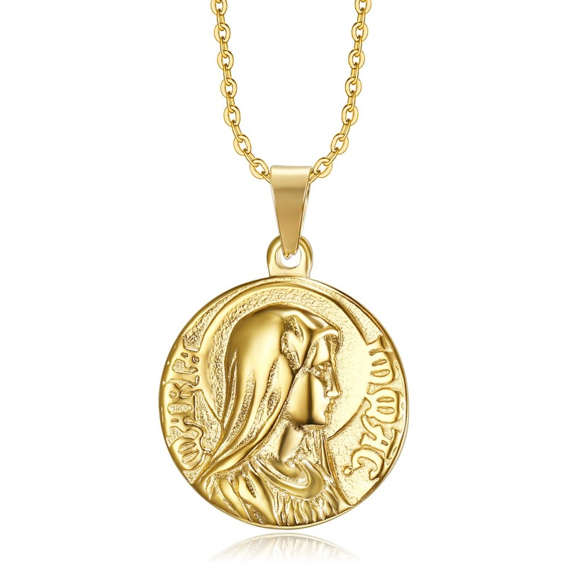 PE0265 BOBIJOO Jewelry Pendant Miraculous mary Immaculate Conception Gold