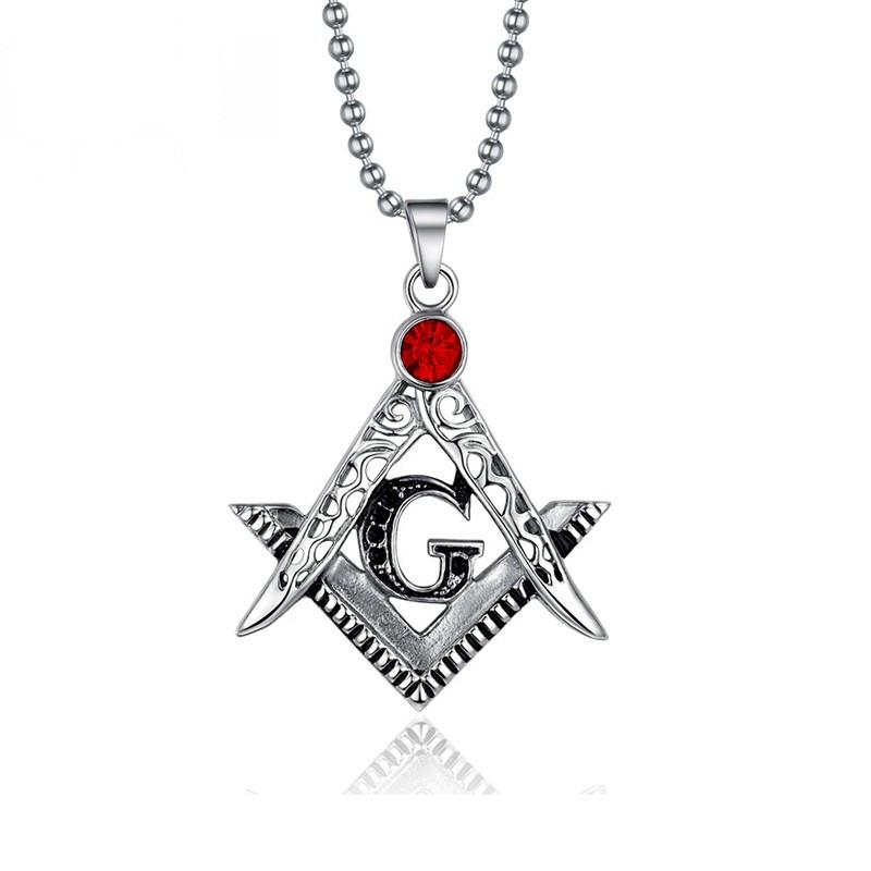 PE0004 BOBIJOO Jewelry Collana Con Pendente A Frank Mason Acciaio Falso Rosso Rubino