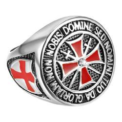 BA0178 BOBIJOO Jewelry Anillo de Moneda Caballero Templario Todo el Dinero