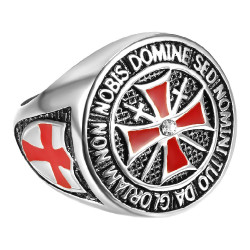 BA0178 BOBIJOO Jewelry Ring-Währung Tempelritter Alles Geld
