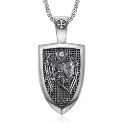 PE0278 BOBIJOO Gioielli Ciondolo in Ordine di Saint-Michel Templari in Acciaio 316L
