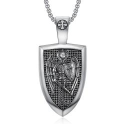 PE0278 BOBIJOO Jewelry Pendentif Ordre Saint Michel Templier Acier 316L