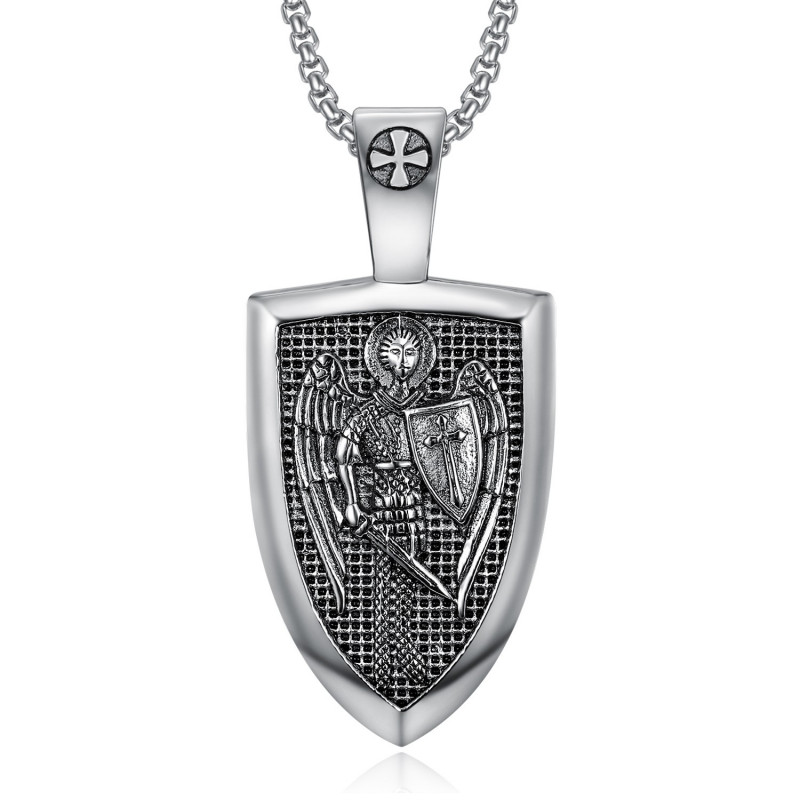 PE0278 BOBIJOO Jewelry Colgante de la Orden de Saint Michel Templarios Acero 316L