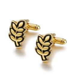 BM0038 BOBIJOO Jewelry Manschettenknöpfe Zweig von Acacia FM