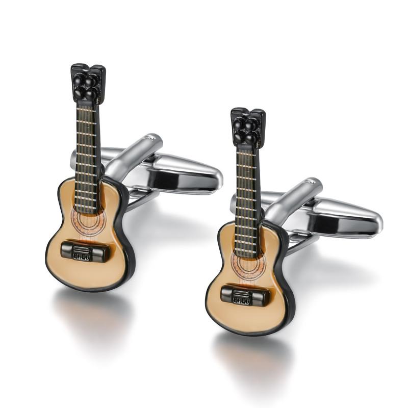 BM0042 BOBIJOO Jewelry Cufflinks Guitar Gipsy Musician