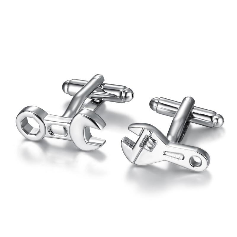 BM0047 BOBIJOO Jewelry Los gemelos de Herramientas de Mecánico Clave de