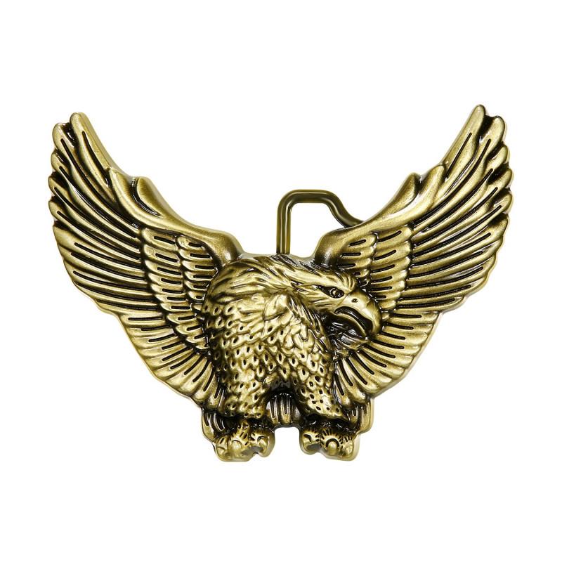 Boucle de Ceinture Aigle USA 3D Bronze bobijoo