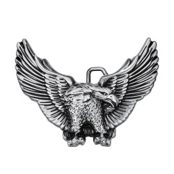 BC0002 BOBIJOO Jewelry Belt buckle Eagle USA 3D Silver