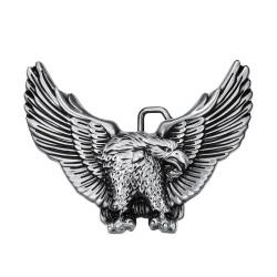 BC0002 BOBIJOO Jewelry La hebilla del cinturón de Eagle, estados UNIDOS 3D de Plata