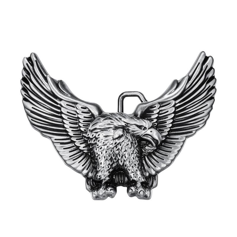 BC0002 BOBIJOO Jewelry Gürtelschnalle Adler USA 3D-Silber
