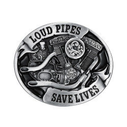 BC0008 BOBIJOO Jewelry Gürtelschnalle Loud Pipes Save Lives