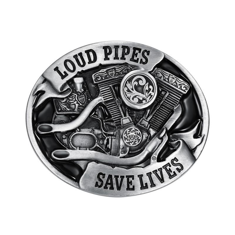 BC0008 BOBIJOO Gioielli Fibbia della Cintura Loud Pipes Save Lives