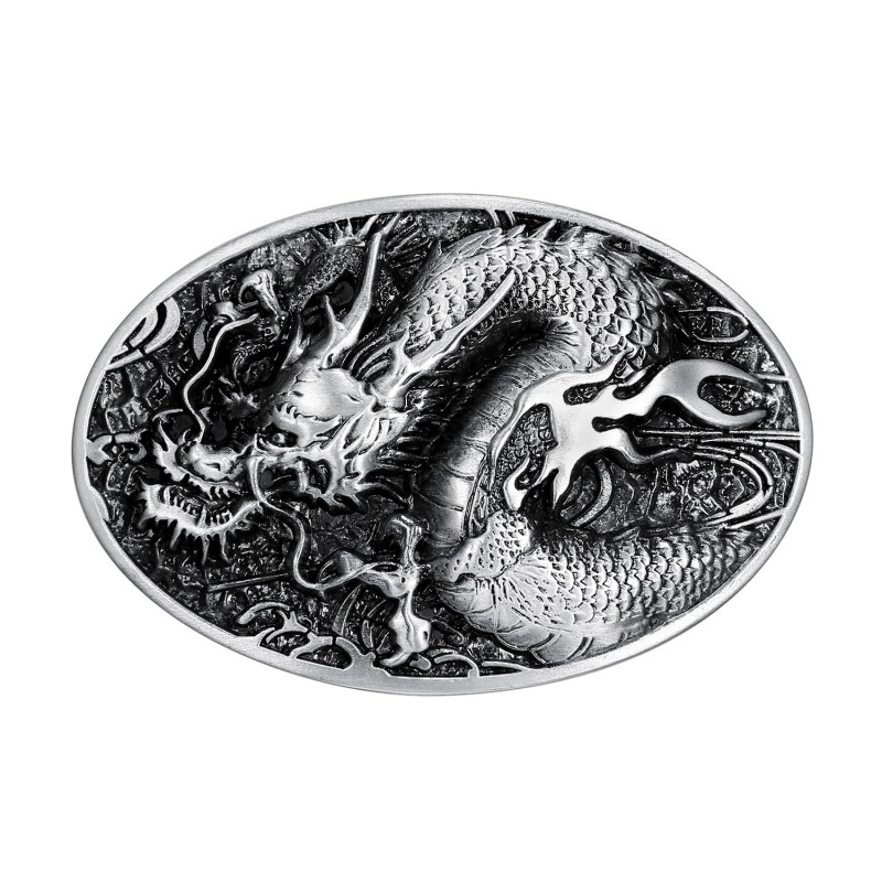 BC0010 BOBIJOO Jewelry La hebilla del cinturón de Dragon 3D Ciclista de eje de Balancín