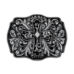 BC0013 BOBIJOO Jewelry Belt buckle Cross Rocker Biker God Protection