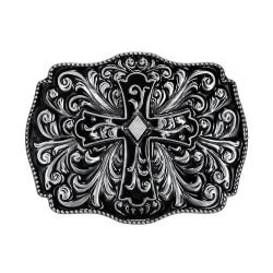 BC0013 BOBIJOO Jewelry La hebilla del cinturón de Cruz de eje de Balancín Ciclista de Dios, de Protección de la