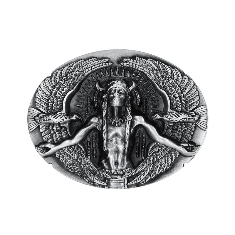 BC0014 BOBIJOO Jewelry Belt buckle of Indian Man Eagles USA Triker