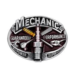 BC0009 BOBIJOO Jewelry La hebilla del cinturón de Ingeniero Motorista de la Motocicleta de la bujía