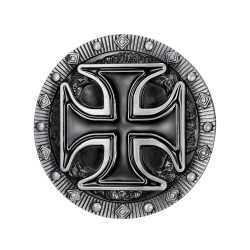 BC0017 BOBIJOO Jewelry Belt buckle Cross Pattee Templar Biker Triker