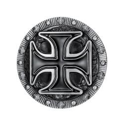 BC0017 BOBIJOO Jewelry Gürtelschnalle Kreuz Pattée Templer Biker Triker