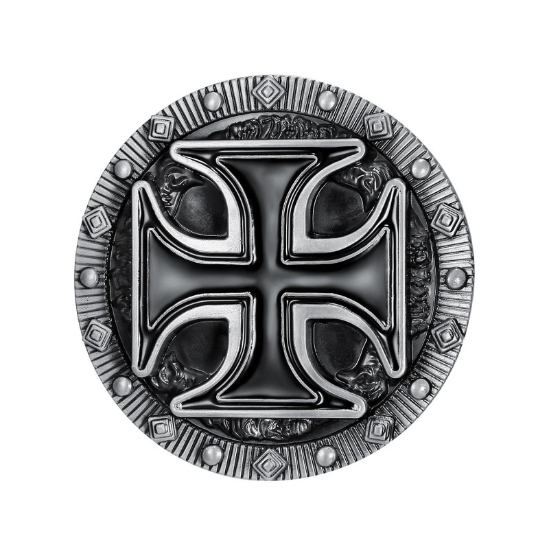 Boucle de Ceinture Croix Pattée Templier Biker Triker bobijoo