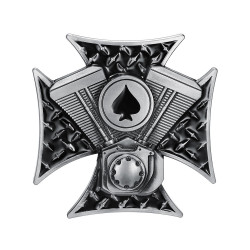 BC0018 BOBIJOO Jewelry Belt buckle Cross Templar Ace of Spades Motor V Twin