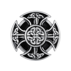 BC0019 BOBIJOO Jewelry Belt buckle Celtic Cross Biker Templar