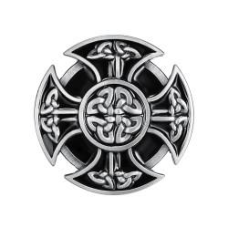 BC0019 BOBIJOO Jewelry Hebilla del cinturón de la Cruz Celta de Moteros Templarios