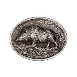 BC0020 BOBIJOO Jewelry Belt buckle Hunter Boar Nature