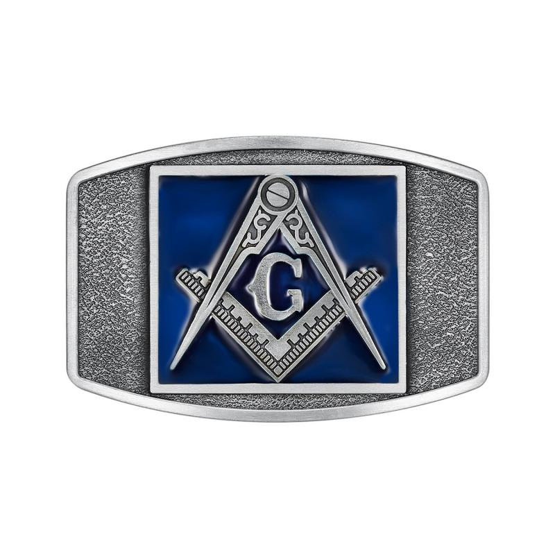 BC0024 BOBIJOO Jewelry Gürtelschnalle Freimaurer-Mail-Blaue
