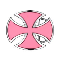 BC0025 BOBIJOO Gioielli Fibbia della Cintura Croce patente d'oro Circondato Alesée Rosa