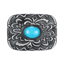 BC0027 BOBIJOO Jewelry Belt buckle Turquoise USA Biker
