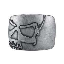 BC0030 BOBIJOO Jewelry Cinturón de hebilla de Calavera de la Muerte de la Cabeza de la