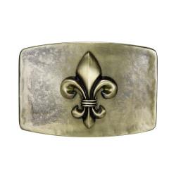 BC0033 BOBIJOO Jewelry La hebilla del cinturón de Fleur-de-Lis de Bronce de la