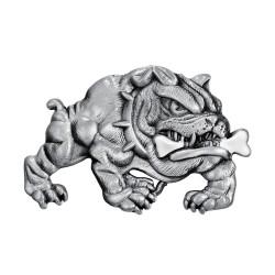 BC0034 BOBIJOO Jewelry La hebilla del cinturón de Bulldog Perro Feroz Motorista de la